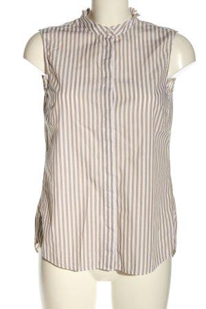 Joop! Blusa senza maniche marrone-bianco motivo a righe stile casual