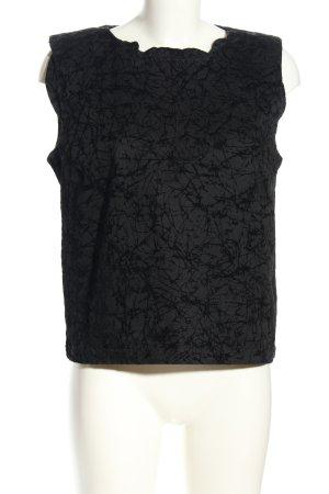 Joop! ärmellose Bluse schwarz abstraktes Muster Casual-Look