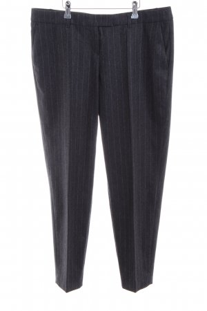 Joop! Anzughose schwarz-silberfarben Streifenmuster Business-Look