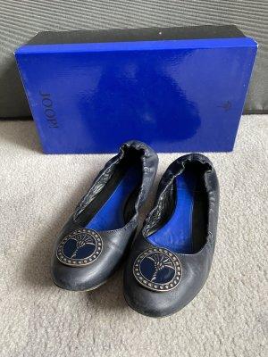 Joop Ballerinas Leder dunkelblau marineblau Größe 36