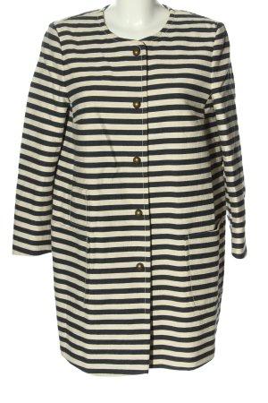 Joop! Marynarski płaszcz czarny-kremowy Wzór w paski W stylu casual