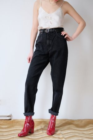 joop designer highwaist karotten jeans momjeans schwarz 40 38 S M