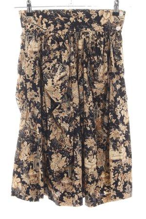 Joop! Falda a cuadros negro-nude estampado floral look casual