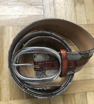 Joop! Leather Belt beige-dark orange
