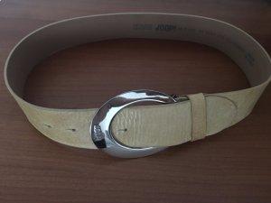 Joop! Cinturón de cuero marrón arena Cuero