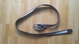 Joop! Cinturón de cuero color plata-marrón