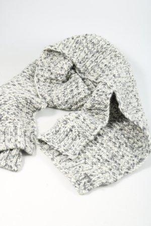 Joop! Bufanda de ganchillo gris claro-blanco moteado look casual