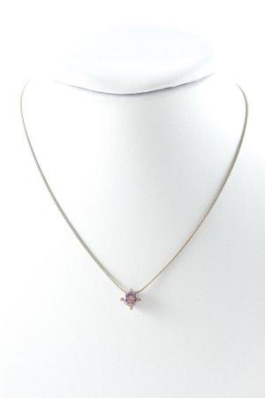 Joop! Halskette silberfarben-lila schlichter Stil