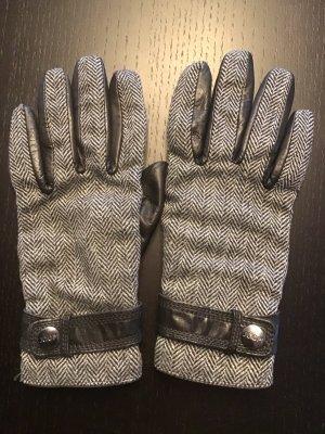 Joop! Rękawiczki czarny-w kolorze białej wełny Skóra
