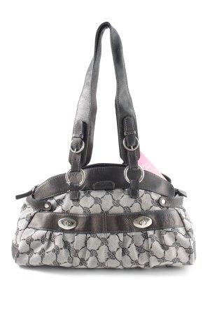 Joop! Handtasche hellgrau abstraktes Muster Business-Look