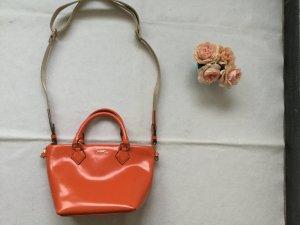 JOOP! Handtasche, Leder, orange, klein, Tragegriffe, Umhängegurt, wie neu, NP 229