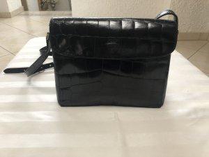 Joop Handtasche schwarz mit Krokoprägung