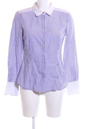Joop! Hemd-Bluse weiß-blau Streifenmuster Business-Look