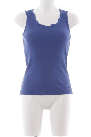 Joop! Jeans Basic Top blau Casual-Look