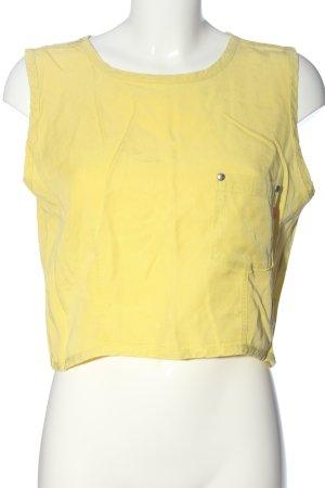 Joop! Jeans Cropped Shirt blassgelb Casual-Look