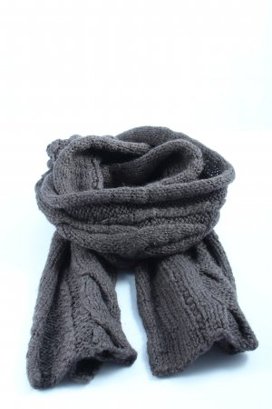 Joop! Jeans Crochet Scarf light grey cable stitch casual look
