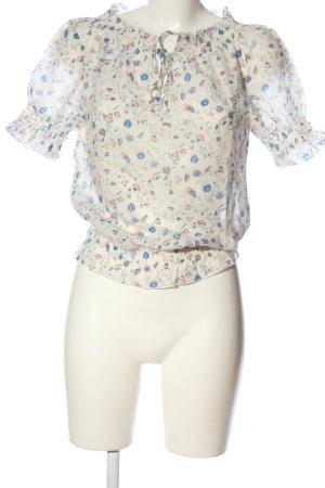 Joop! Jeans Kurzarm-Bluse Allover-Druck Casual-Look