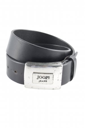 Joop! Jeans Leather Belt dark brown Logo Application Metal