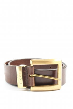 Joop! Jeans Faux Leather Belt brown-gold-colored business style