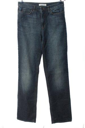 Joop! Jeans Jeansy z prostymi nogawkami niebieski Tkanina z mieszanych włókien