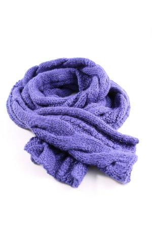 Joop! Jeans Écharpe en tricot violet torsades style décontracté
