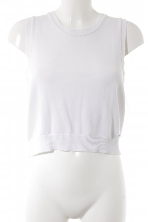 Joop! Jeans Gebreide top wit casual uitstraling