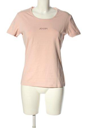 Joop! Jeans T-Shirt creme Schriftzug gedruckt Casual-Look