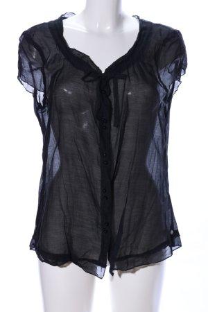 Joop! Jeans Transparenz-Bluse schwarz Casual-Look