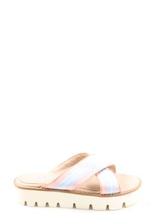 Joop! Komfort-Sandalen blau-wollweiß Streifenmuster Casual-Look