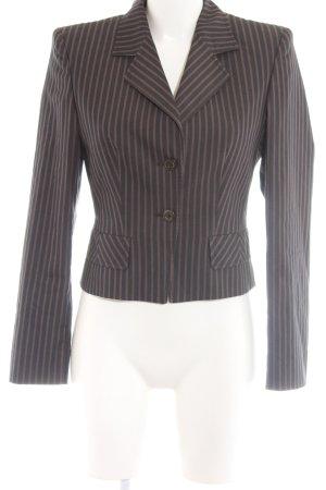 Joop! Kurz-Blazer schwarz-braun Streifenmuster Business-Look