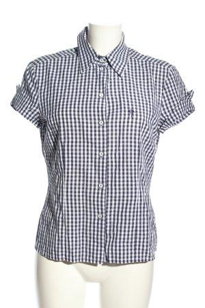 Joop! Koszula z krótkim rękawem biały-fiolet Wzór w kratkę Elegancki