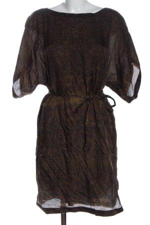 Joop! Vestido de manga corta marrón-negro look casual