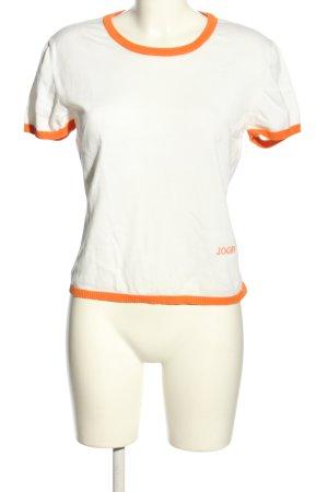 Joop! Jersey de manga corta blanco-naranja claro letras impresas look casual