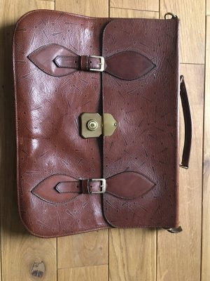 Joop! Briefcase brown-gold-colored leather