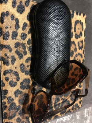 Joop! ❤️Leder Brillenetui Animalprint plus Sonnenbrille
