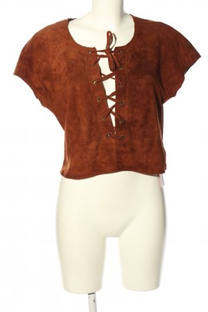 Joop! Leather Blouse brown casual look