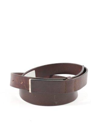 Joop! Cinturón de cuero marrón estilo «business»