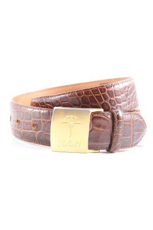 Joop! Cinturón de cuero marrón-naranja claro estampado de animales