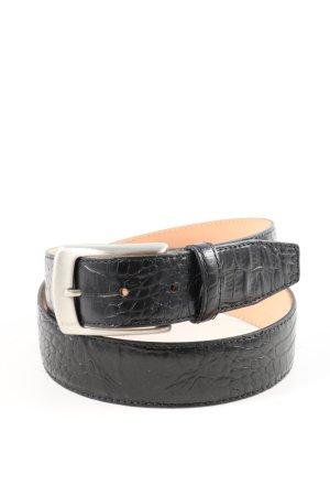 Joop! Cintura di pelle nero motivo animale stile casual