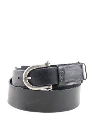 Joop! Cinturón de cuero negro estilo «business»