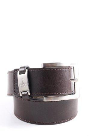 Joop! Leather Belt brown-silver-colored casual look