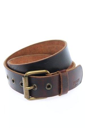 Joop! Cinturón de cuero marrón look casual
