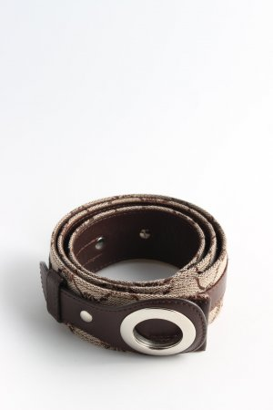 Joop! Leather Belt brown-cream abstract pattern casual look