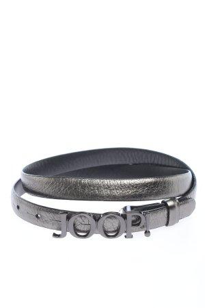 Joop! Cinturón de cuero negro look casual