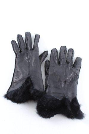 Joop! Rękawiczki skórzane czarny W stylu casual