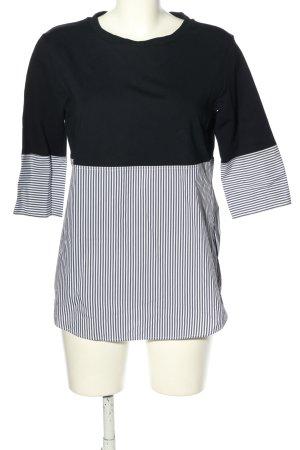 Joop! Camisa larga negro-blanco estampado a rayas look casual