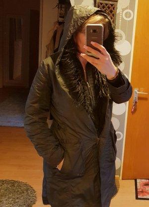 Joop! Jeans Cappotto con cappuccio grigio scuro-antracite