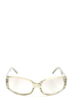 Joop! ovale Sonnenbrille hellgrau-creme Motivdruck Casual-Look