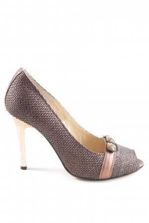 Joop! Peeptoe Pumps braun-bronzefarben Business-Look