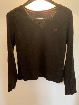 Joop! Sweter z dekoltem w kształcie litery V czarno-brązowy